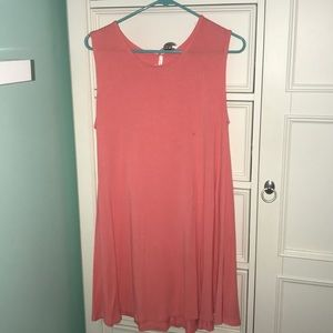 Pink tee-shirt dress